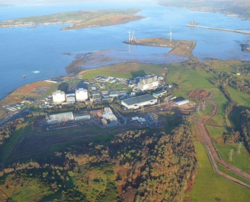 Murform, Hunterston Aerial View, formwork contractor