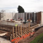 Murform - Llwyn Onn Reservoir Concrete reinforced walls, columns, Formwork Contractor,