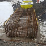 Murform, formwork, rebar, concrete, substation