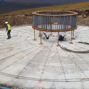 Murform, formwork, concrete, rebar, turbine bases, steel fixing